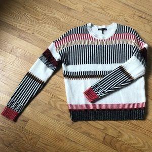 Maje Graphic Jacquard Knit Sweater